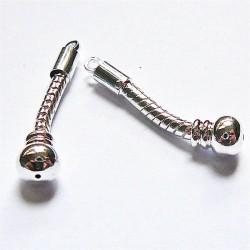 Boucle d'oreilles perle gros trou 40mm
