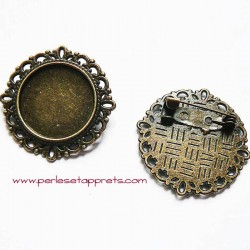 Broche ronde 32mm bronze
