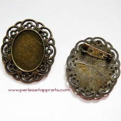 Broche ovale 40mm bronze