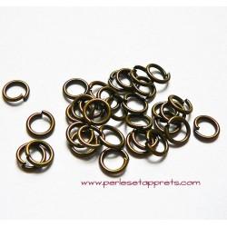 Lot 20 anneaux 7mm en métal couleur bronze