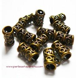 Lot 5 bélières ciselées en métal bronze laiton 11mm pour bijoux perles et apprêts