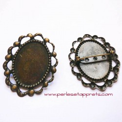 Broche ovale 43mm bronze