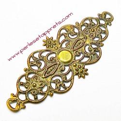 Lot 6 estampes ovales en filigrane en métal laiton 6cm pour bijoux meubles perles et apprêts