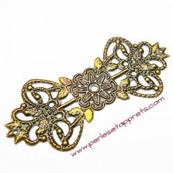 Estampe ovale en filigrane en métal bronze laiton 7cm pour bijoux perles et apprêts