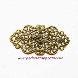 Estampe ovale en filigrane en métal bronze laiton 45mm pour bijoux meubles perles et apprêts