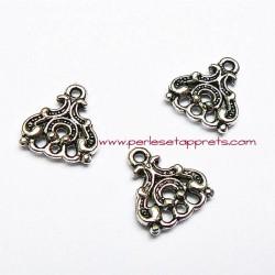 Connecteur en métal argenté 20mm pour bijoux perles et apprêts