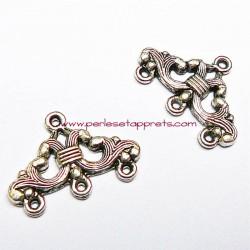 Connecteur en métal argenté 23mm pour bijoux perles et apprêts