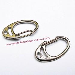 Fermoir mousqueton en métal argenté 34mm pour bijoux porte clés perles et apprêts