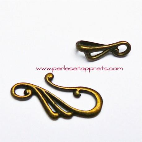 Lot 9 fermoirs toggle en métal bronze laiton 25mm pour bijoux perles et apprêts