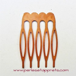 Peigne en métal couleur cuivre 26mm
