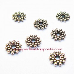 Lot 15 perles intercalaires 8mm argent