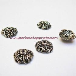 Coupelle calotte caps en métal argent tibétain 14mm pour bijoux perles et apprêts