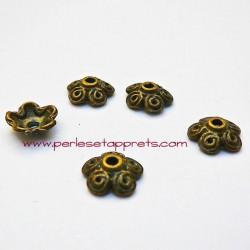 Coupelle calotte caps en métal bronze laiton 10mm pour bijoux perles et apprêts