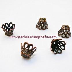 Coupelle calotte caps en métal bronze cuivre 9mm pour bijoux, perles et apprêts