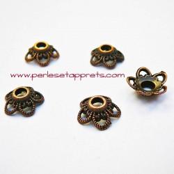 Coupelle calotte caps en métal bronze, cuivre 11mm pour bijoux, perles et apprêts