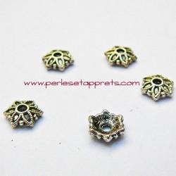 Coupelle calotte caps en métal argenté 8mm pour bijoux perles et apprêts
