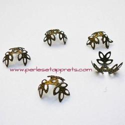 Lot 20 coupelles calottes caps ciselées en métal bronze laiton 12mm pour bijoux perles et apprêts
