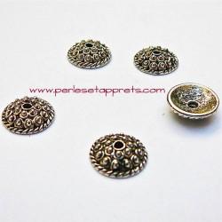 Coupelle calotte caps en métal argenté 11mm pour bijoux perles et apprêts