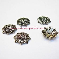 Lot 10 coupelles calottes caps en métal argenté 16mm pour bijoux perles et apprêts