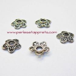 Lot 10 coupelles calottes caps en métal argenté 12mm pour bijoux perles et apprêts