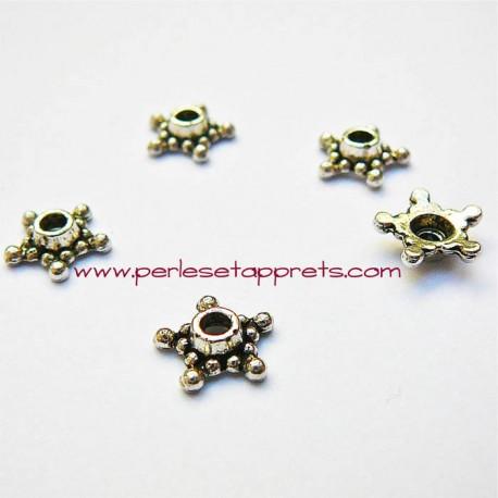 Lot 10 coupelles calottes caps en métal argenté 9mm pour bijoux perles et apprêts