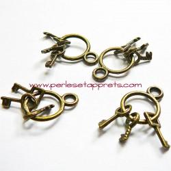 Breloque clés en laiton 25mm pour bijoux perles et apprêts