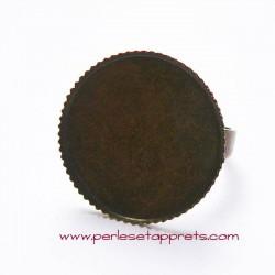 Bague ronde 20mm bronze