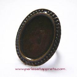 Bague ovale 32mm bronze