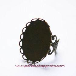 Bague ovale filigranée en laiton 25mm
