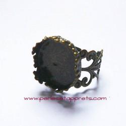 Bague ronde 15mm filigrane bronze