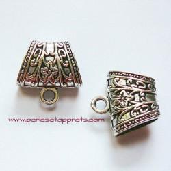Bélière argentée à écharpe 20mm, bijoux, perles et apprêts
