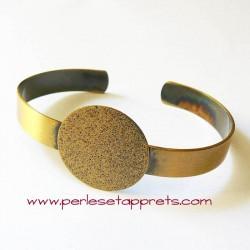 Bracelet jonc réglable en laiton à décorer, perles et apprêts