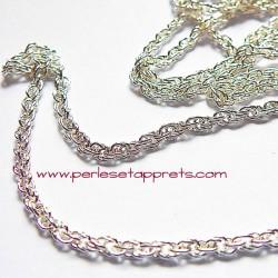 Chaîne torsadée 3mm en métal argent pour bijoux, perles et apprêts