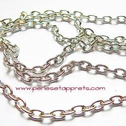Chaîne maille forçat 5mm en métal argent, pour bijoux, perles et apprêts