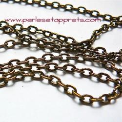 Chaîne ciselée à maille forçat 4mm en bronze laiton, pour bijoux, perles et apprêts