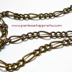 Chaine mélangée à maille gourmette en bronze laiton, pour bijoux, perles et apprêts