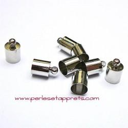 Lot 10 embouts 7mm en métal argenté rhodié pour cordon pour cordon ruban bijoux perles et apprêts