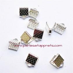 Lot 40 embouts griffe argent 6mm pour ruban, cordon, bijoux, perles et apprêts