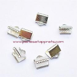 Lot 20 embouts griffe argent 8mm, pour cordon, ruban, bijoux, perles et apprêts