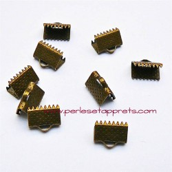Lot 30 embouts griffe 10mm bronze