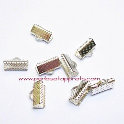 Lot 20 embouts griffe argent 13mm, pour cordon, ruban, bijoux, perles et apprêts