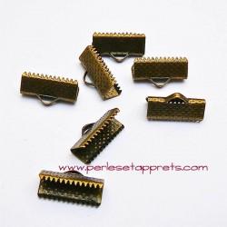 Lot 30 embouts griffe en laiton bronze 16mm, pour cordon, ruban, bijoux, perles et apprêts