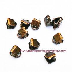 Lot 20 embouts griffe en cuivre bronze 6mm, pour cordon, ruban, bijoux, perles et apprêts