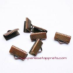 Lot 20 embouts griffe en cuivre bronze 13mm, pour cordon, ruban, bijoux, perles et apprêts