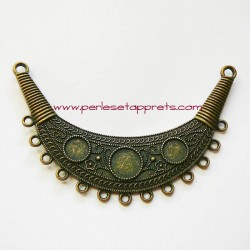 Grand pendentif en métal bronze laiton 8cm pour bijoux perles et apprêts