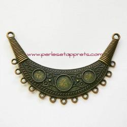 Lot 2 grands pendentifs ethniques en bronze laiton 80mm, pour bijoux, perles et apprêts