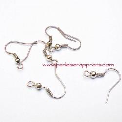 Lot 20 boucles d'oreilles attache argent rhodié, perles et apprêts