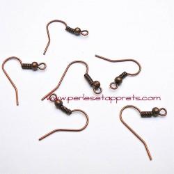Lot 20 boucles d'oreilles attache cuivre