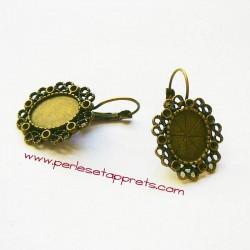 Boucle d'oreilles dormeuse ovale 23mm bronze