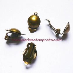 Boucle d'oreilles clip en laiton bombé 12mm